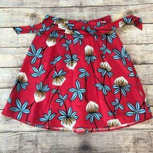 Ann Taylor Pink Floral Skirt
